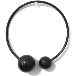 Black Wire Open Loop Metal Balls Choker